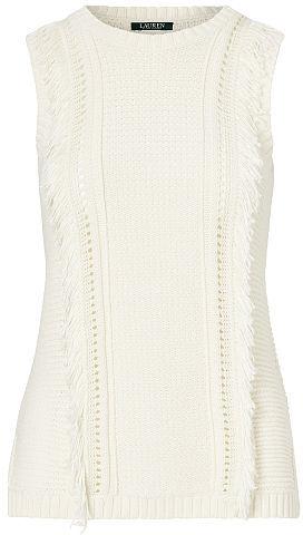 Ralph Lauren Lauren Fringe Sleeveless Sweater