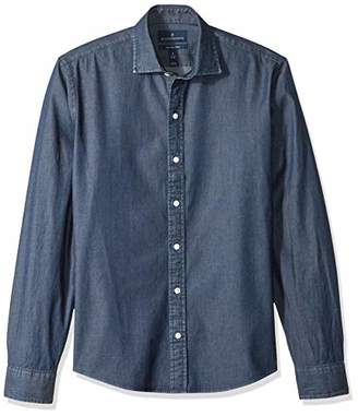 Buttoned Down Men's Slim Fit Indigo Denim Cotton Sport Shirt
