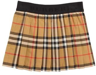 Burberry Mini Pansie Check Skirt