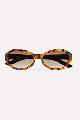 Prada Hexagon-frame Tortoiseshell Acetate Sunglasses