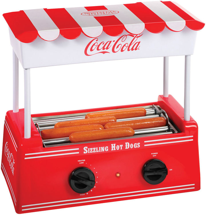 Nostalgia Electrics Nostalgia HDR565COKE Coca-Cola Hot Dog Roller withBun Warmer