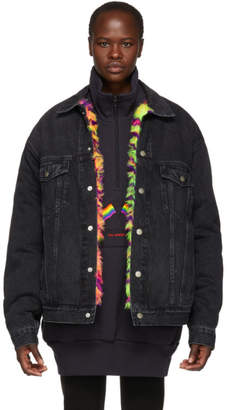 Balenciaga Black Denim Oversized Jacket
