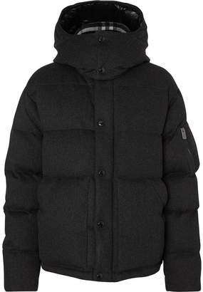Burberry Detachable Hood Cashmere Down-filled Jacket