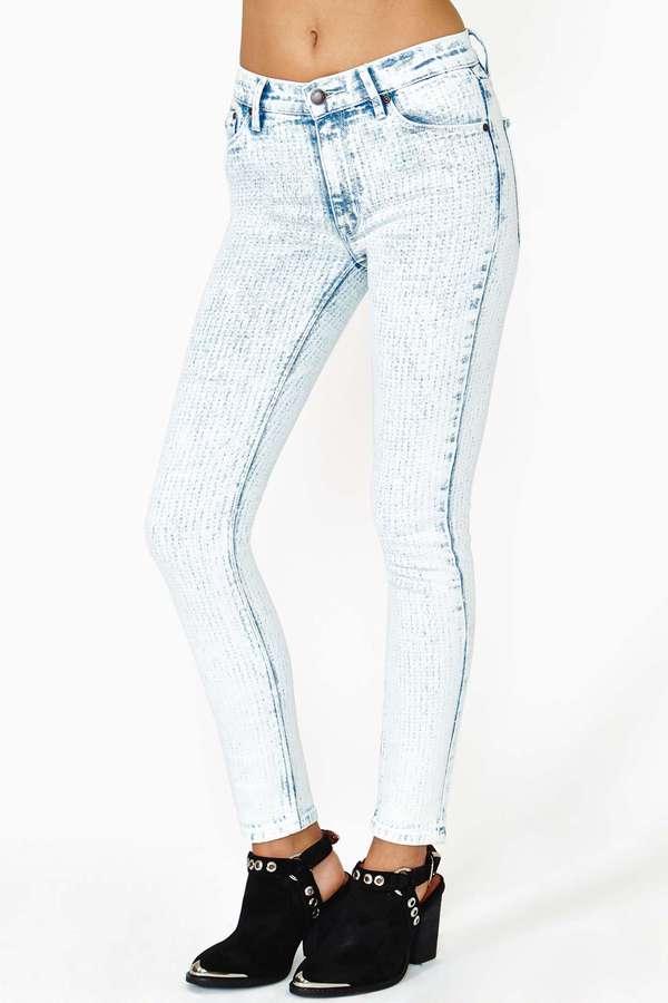 Nasty Gal RES Denim Kitty Dotty Skinny Jeans