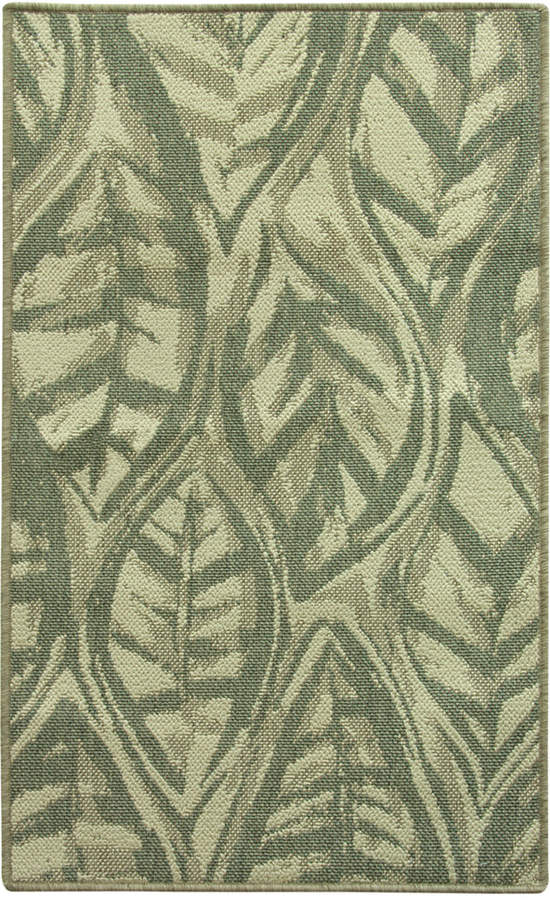 "BacovaBacova Leaf Sketch Blue 28.3"" x 46.0"" Accent Rug"