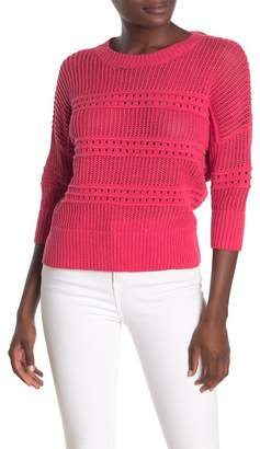 Lumiere Loose Knit 3/4 Sleeve Sweater