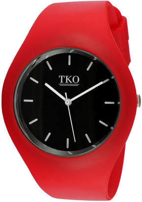 JCPenney TKO ORLOGI Candy II Red Silicone Strap Sport Watch
