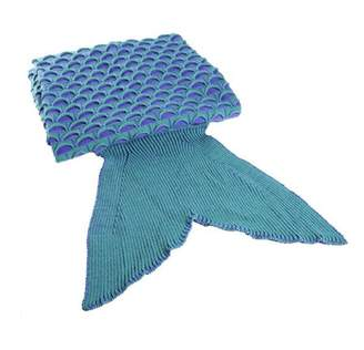 SPECIAL 2 Colors Lovely Wool Materials Knitted Mermaid Tail Blanket Lazy Bag SY017 on Clearance