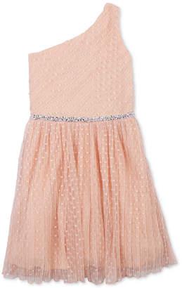 Speechless Big Girls Embellished One-Shoulder Dress