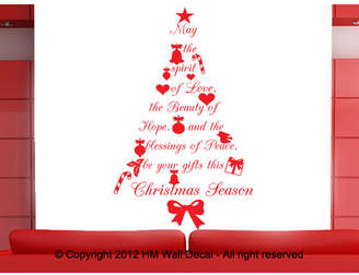 Quote Christmas Tree Wall Art Decal