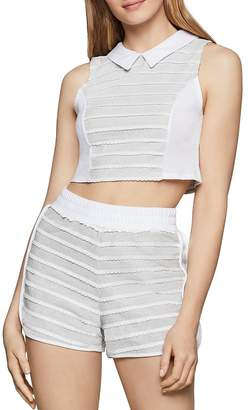 233d45147ccb8 BCBGeneration Scalloped-Trim Collared Cropped Top