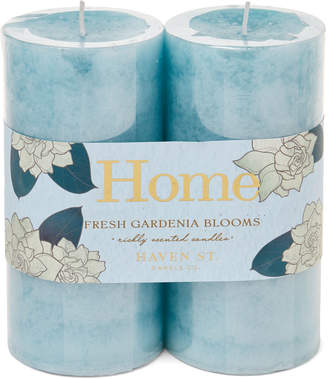 Gardenia Haven Street Candle Co. Two-Pack Fresh Blooms Scented Pillar Candles