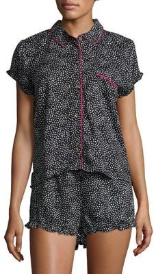 Juicy Couture Boxy Sleep Top and Tap Shorts Set