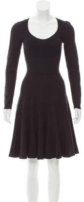 Alaia Fit and Flare Knee-Length Dress