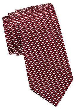 Giorgio Armani Men's Micro Print Silk Tie