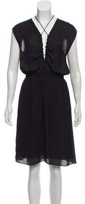 Etoile Isabel Marant Plunging Neckline Midi Dress