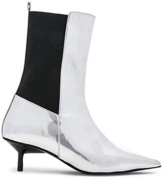 Marques Almeida Marques ' Almeida Leather Pointy Kitten Heel Boots