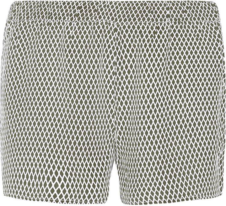 EquipmentEquipment Landis printed washed-silk shorts