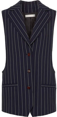 See by Chloe Oversized Pinstriped Cady Vest - Navy