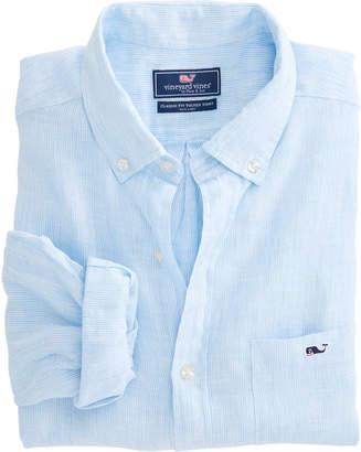 Vineyard Vines Cooper's Town Stripe Classic Linen Tucker Shirt