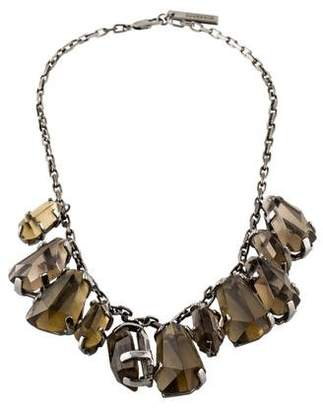 Burberry Faceted Drops Collar Necklace