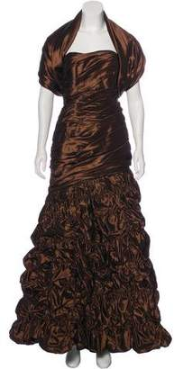 Couture Liancarlo Strapless Ruched Gown