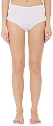 Hanro Women's Cotton Seamless High-Waist Briefs - White