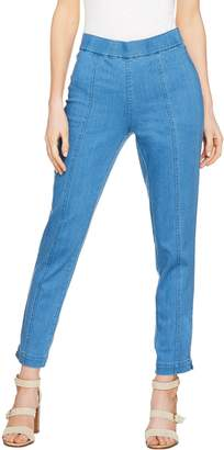 C. Wonder Regular Denim Pull-On Ankle Jeans with Seam Detail