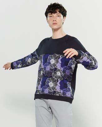 Versace Floral Color Block Sweatshirt