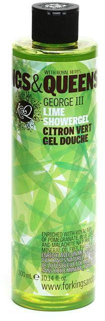 Kings & Queens Shower Gel, George III - Lime 10.14 fl oz