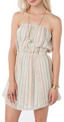 Women's O'Neill 'Veronica' Stripe Strapless Dress $54 thestylecure.com