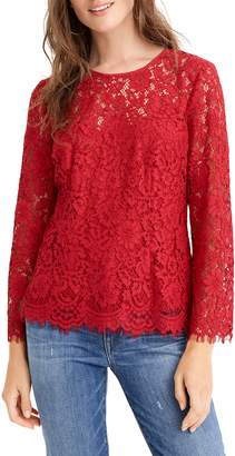 J.Crew Lace Top with Built-In Camisole