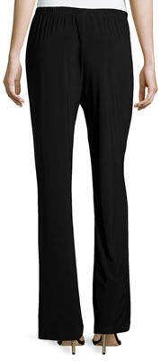 Caroline Rose Stretch-Knit Wide-Leg Pants