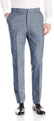 Perry Ellis Men's Slim Fit Linen Cotton End Flat Front Pant