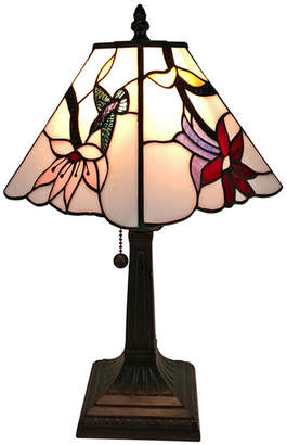 Tiffany & Co. AMORA Amora Lighting AM211TL08 Style Multicolored Mission Table Lamp 15 inches
