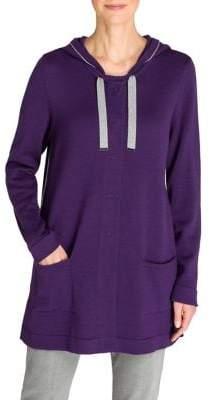 Olsen Cosy Mood Hooded Cotton-Blend Cardigan