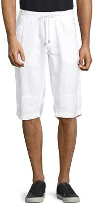 Point Zero Drawstring Linen Shorts