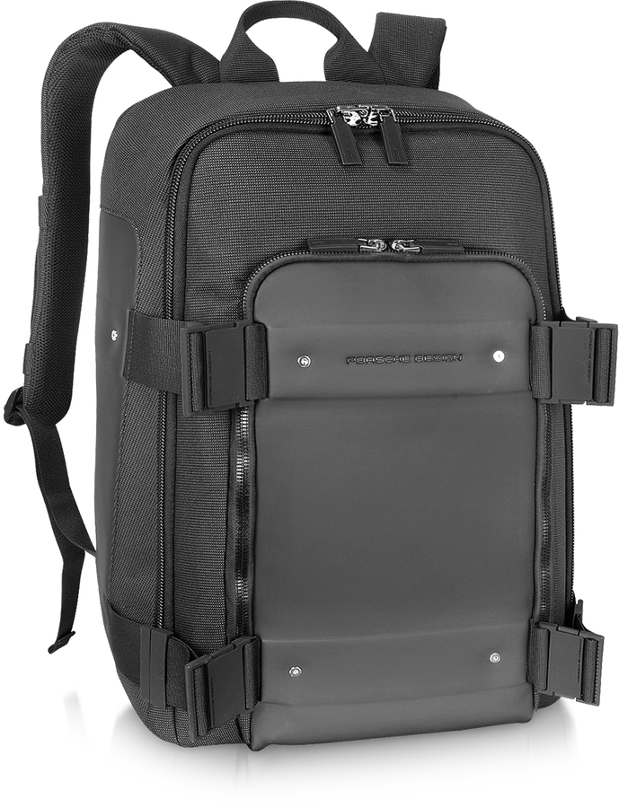 Porsche Design Cargon 2.0 - Black Front Pocket Backpack