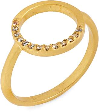 Madewell Luster Circle Pave Ring