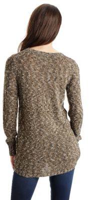 Kensie Mixed Hi-Lo Knit Sweater