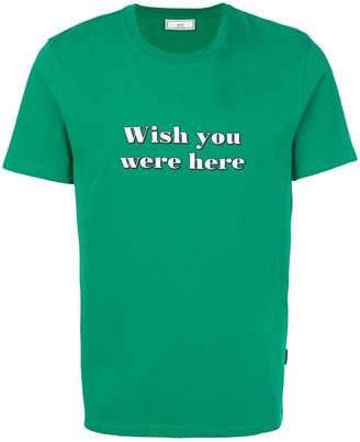 Ami Alexandre Mattiussi Wish You Were Here T-shirt