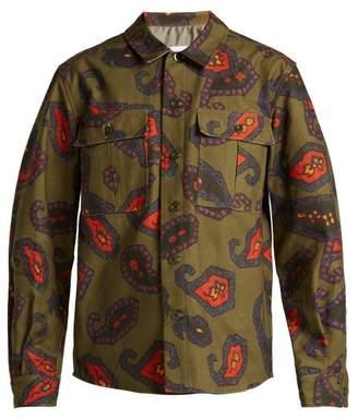 Toga Paisley Print Patch Pocket Cotton Shirt - Womens - Khaki