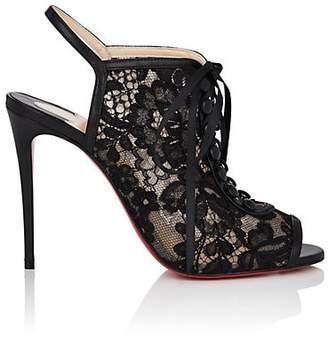 Christian Louboutin Women's Mariee A Colmar Lace & Leather Sandals - Version Black