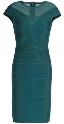 Herve Leger Mesh-Paneled Bandage Dress