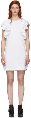 See by Chloe White Ruffled Dress
