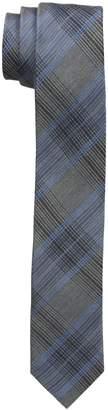 Calvin Klein Men's Platinum Suiting Plaid Slim Tie