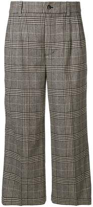 Bellerose crop checkered trousers