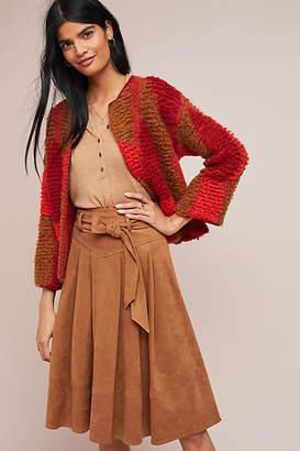 Akemi + Kin Faux Suede A-Line Skirt