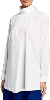 127370810 Oversized Cotton White Long Sleeve Button Cotton Shirt - ShopStyle