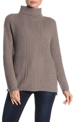 Sofia Cashmere Cashmere Mock Neck Textured Knit Sweater